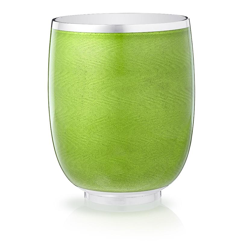 Sterling Silver Green Guilloché Enamel Beaker | Fabergé