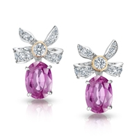 Faberge Earrings - Alix Pink Sapphire Earrings