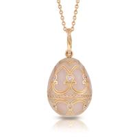 Fabergé Egg Pendant - Palais Tsarskoye Selo Diamond Rose Pendant