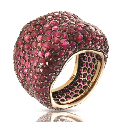 Yellow White Gold Ruby Grand Ring | Fabergé