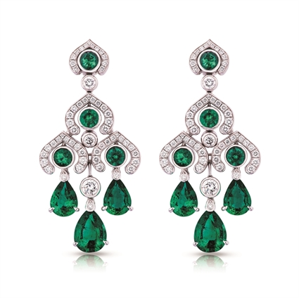 Emerald Earrings - Fabergé Emerald Chandelier Earrings