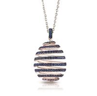 Spiral Blue Sapphire Pendant