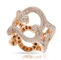 Fabergé Ring - Rococo Lace Diamond Rose Gold Ring