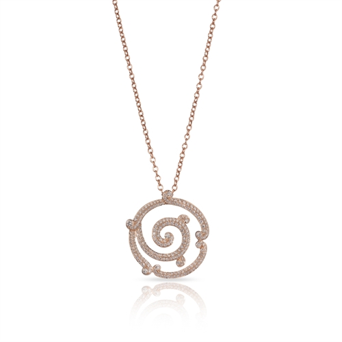 Rose Gold Diamond Pendant | Fabergé