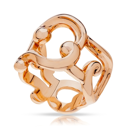 Fabergé Ring - Rococo Lace Rose Gold Ring