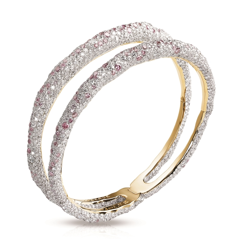 Diamond Bangle Bracelet - Fabergé Charmeuse Rose Bangle
