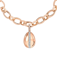 Diamond and Rose Gold Charm - Fabergé Simple Diamond Rose Gold Charm