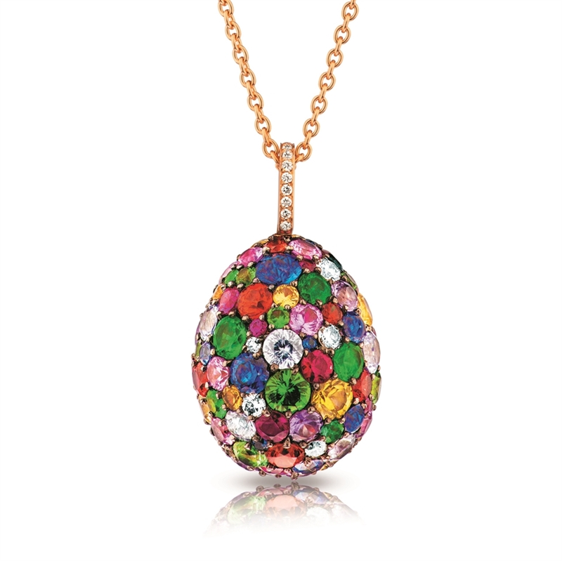 FABERGÉ Egg Pendant - Emotion Multi-Coloured Pendant