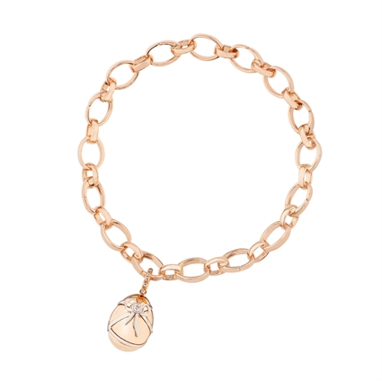 Diamond and Rose Gold Charm - Fabergé Cadeau Diamond Rose Gold Charm