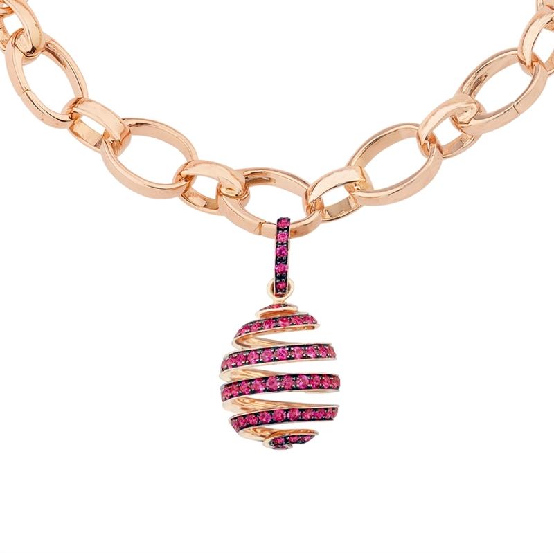 Ruby Charm - Fabergé Spiral Ruby Charm