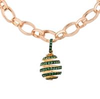 Fabergé Egg Charm - Spiral Emerald Charm