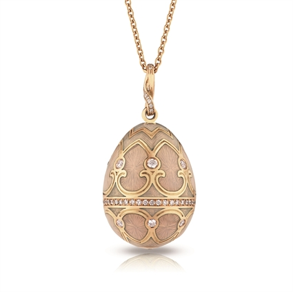 Diamond and Yellow Gold Egg Pendant - Fabergé  Palais Tsarskoye Selo Diamond White Pendant