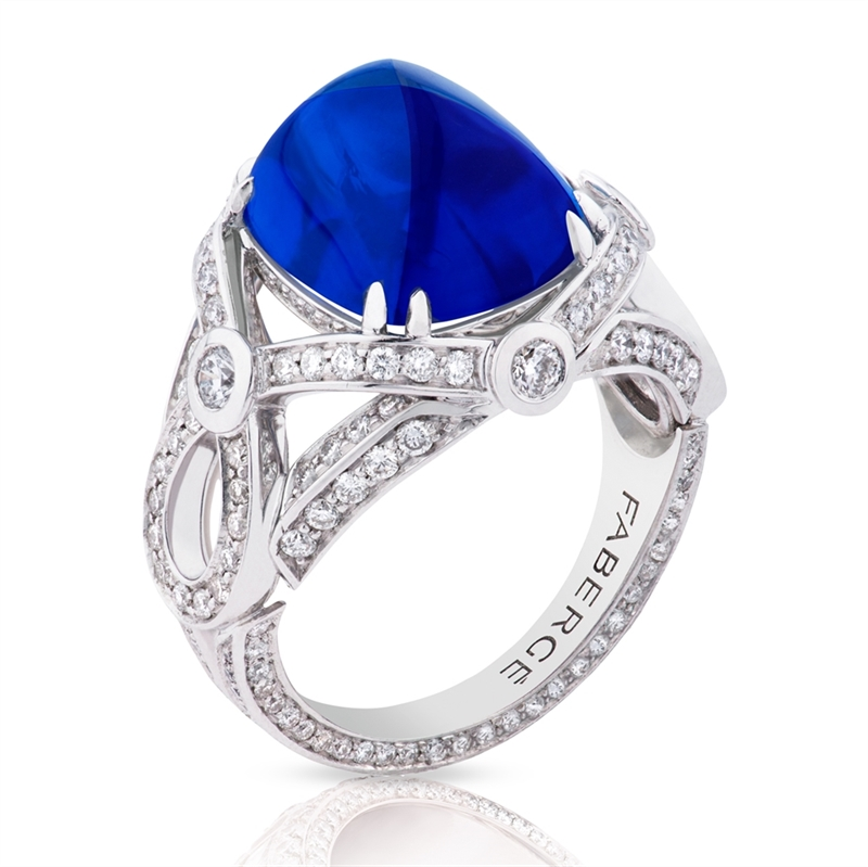 Sapphire Ring - Fabergé Sapphire Sugarloaf Ring