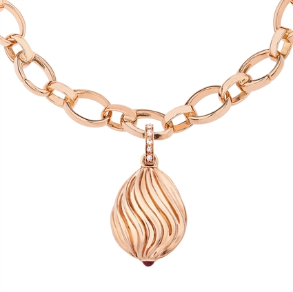 Sunburst Pink Sapphire Rose Gold Charm