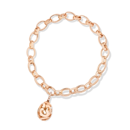 Fabergé Egg Charm - Rococo Rose Gold Charm