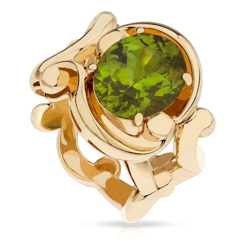 Gold and Peridot Ring - Fabergé Rococo Peridot Yellow Gold Ring