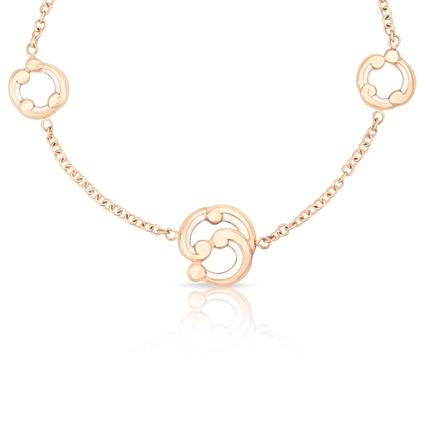 Rose Gold and Purple Enamel Bracelet – Rococo White Enamel Rose Gold Bracelet