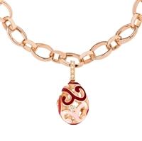 Fabergé Egg Charm - Rococo Multi-Coloured Enamel Rose Gold Charm