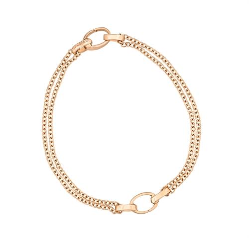 Rose Gold Dual Charm Bracelet | Fabergé