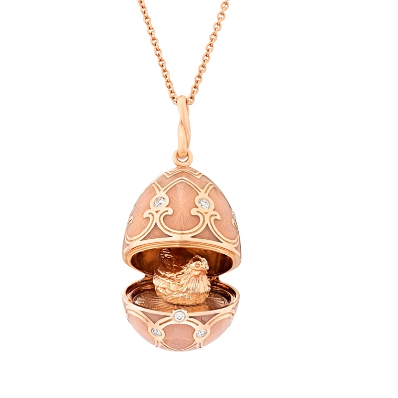 Fabergé Egg Locket Pendant – Palais Tsarskoye Selo Rose Locket Pendant