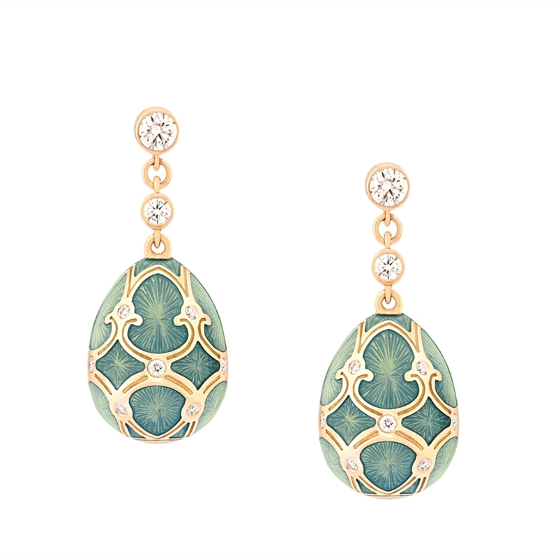 Faberge Egg Earrings – Palais Tsarskoye Selo Turquoise Earrings