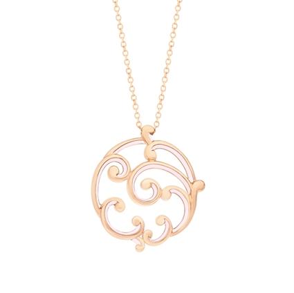 Large Pink Enamel & Rose Gold Pendant | Fabergé