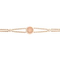 Rose Gold Bracelet – Heritage Pink Enamel Rose Gold Bracelet