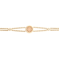 Gold and Diamond Bracelet – Heritage White Enamel Yellow Gold Bracelet