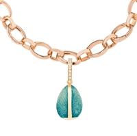 Faberge Egg Charm – Heritage Turquoise Enamel Rose Gold Charm