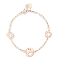 Rose Gold and White Enamel Bracelet – Rococo White Enamel Rose Gold Bracelet