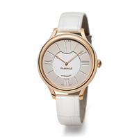 Women's Watch - Lady Fabergé 36mm 18kt Rose Gold Watch – White Dial