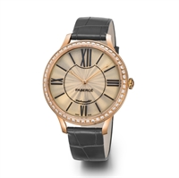 Women's Watch - Lady Fabergé 39mm 18kt Rose Gold Watch – White Opalescent Enamel Dial