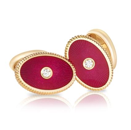 Dark Red Cufflinks - Fabergé  Boris Cufflinks