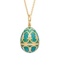 Faberge Egg Pendant - Palais Tsarskoye Selo Diamond Turquoise Pendant