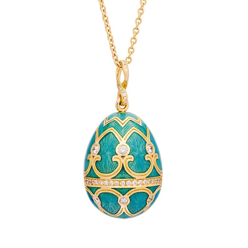 b60e2f8c2 Palais Tsarskoye Selo Diamond Turquoise Pendant FabergÉ Egg. Gemologue  Jewelry ...
