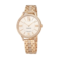 Men's Watch - Fabergé Flirt 39mm 18 Karat Rose Gold - Silver Dial