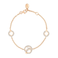Diamond Bracelet – Rococo Pavé Diamond Rose Gold Bracelet