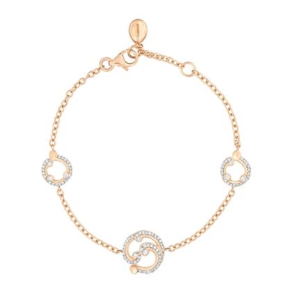 Diamond Bracelet – Rococo Pavé Diamond Rose Gold Bracelet
