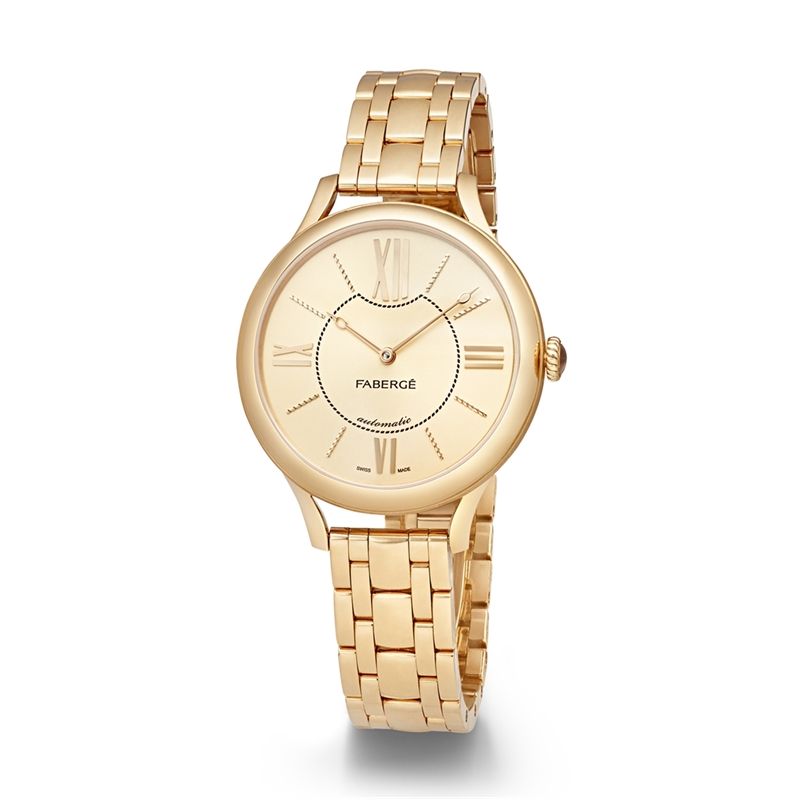 Women's Watch - Fabergé Flirt 36mm 18kt Yellow Gold Watch – Champagne Dial