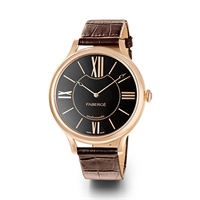 Women's Watch - Fabergé Flirt 39mm 18kt Rose Gold Watch – Black Dial