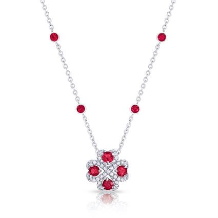 Ruby Pendant Necklace - Fabergé Quadrille Ruby Pendant
