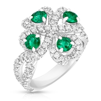 Emerald and Diamond Ring - Fabergé Quadrille Emerald Ring