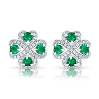 Emerald Earrings – Fabergé Quadrille Emerald Earrings