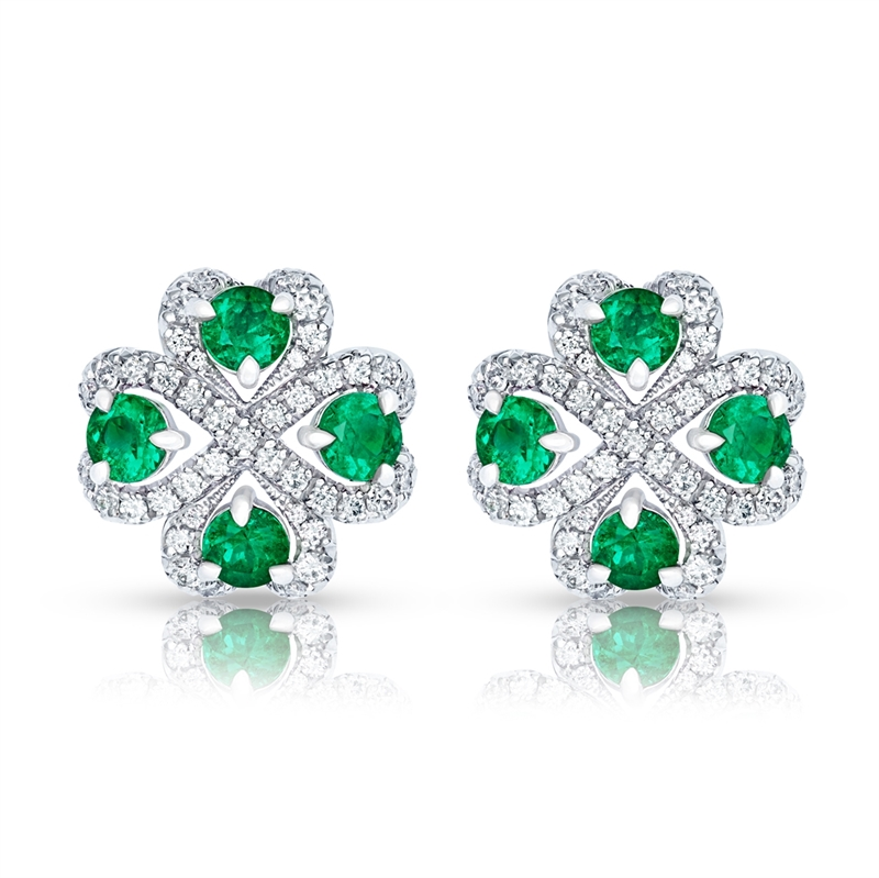 Emerald Earrings – Fabergé Quadrille Emerald Earrings