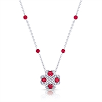 Ruby Pendant Necklace - Fabergé Quadrille Ruby Pendant