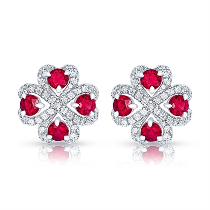Ruby and Diamond Earrings - Fabergé Quadrille Ruby Earrings