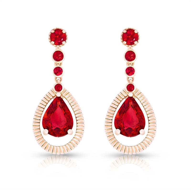 FABERGÉ Earrings - Devotion Ruby Drop Earrings