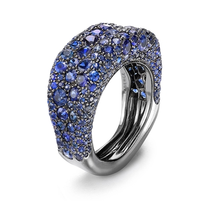 18K White Gold & Blue Sapphire Ring | Fabergé