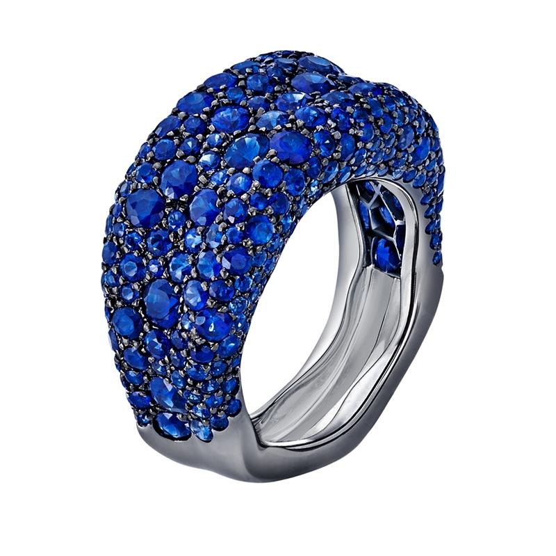 Blue Sapphire Ring - Fabergé Emotion Blue Sapphire Thin Ring