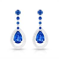 Sapphire & White Gold Drop Earrings | Fabergé